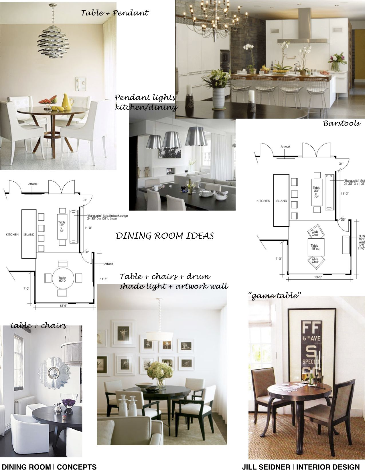 Concept Board For A Kitchen Dining Area Jill Seidner