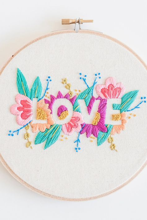 LOVE - Embroidery pattern - PDF Digital Download | crafts | Bordado ...