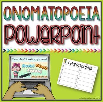 Word Sounds: Onomatopoeia