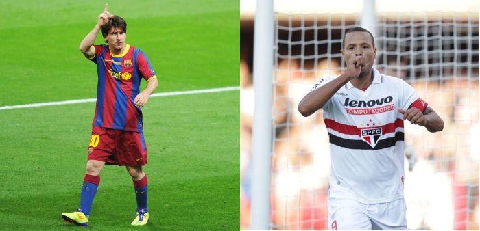 Site do São Paulo iguala Luis Fabiano a Lionel Messi http://r7.com/jeKd. Leia mais na editoria de Esportes do R7: http://esportes.r7.com/