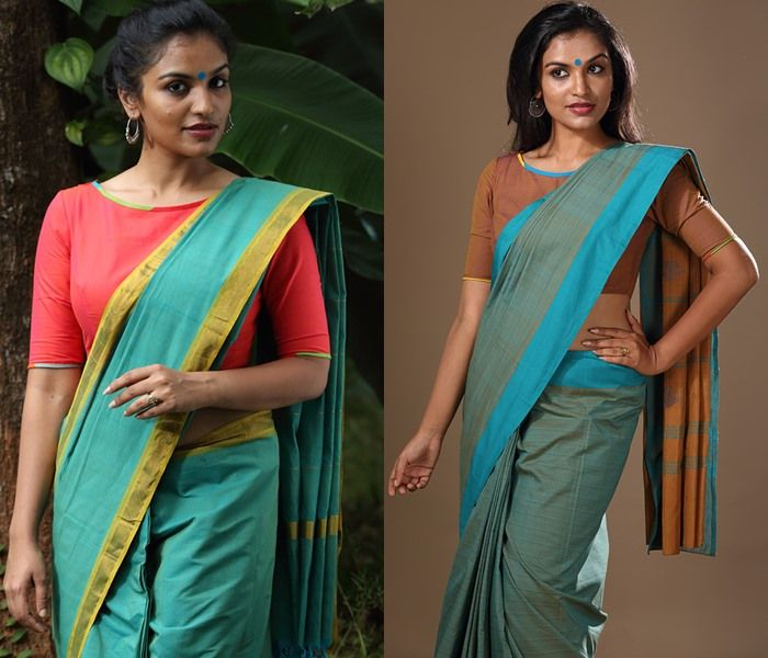 bf63cceea3fcdd 18 Cotton Saree Blouse Designs for a Stylish Look!