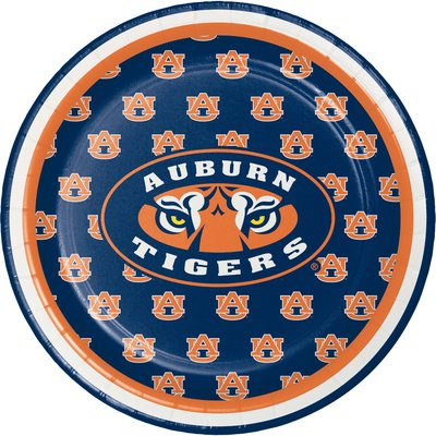Creative Converting Ncaa Basic Paper Disposable Appetizer Plate Wayfair In 2020 Auburn Tigers Auburn Party Supply Kits