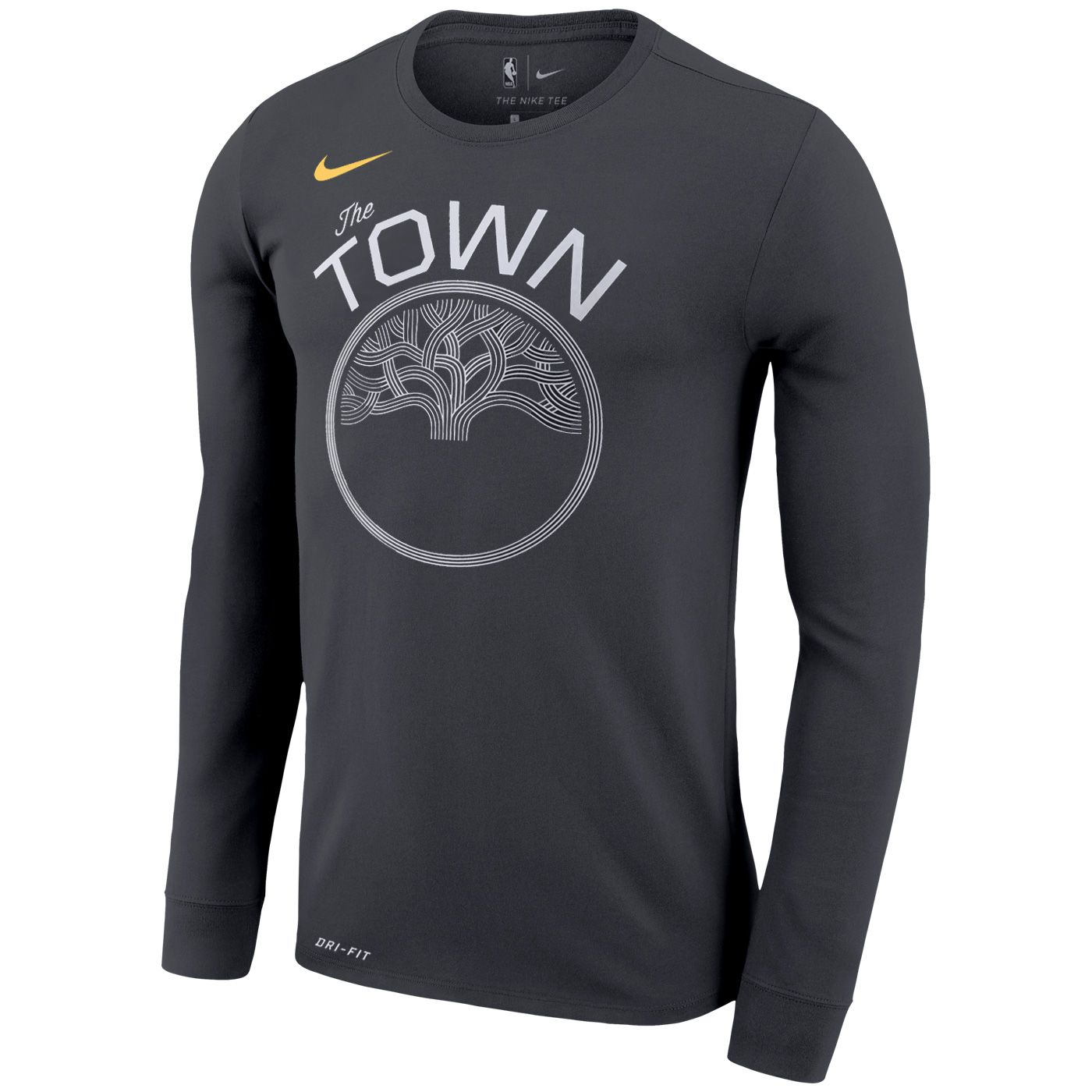 7733a4c1933 Golden State Warriors Nike Dri-FIT Men s  The Town  Legend Long Sleeve Tee  - Anthracite