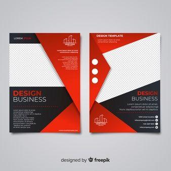 929e9c3524d63 Plantilla moderna de folleto de negocios con diseño plano