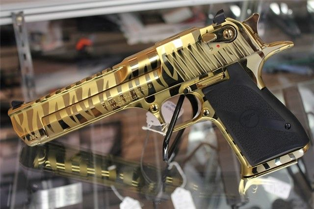 Desert Eagle Mark Xix The Gold Tiger Stripe Finish Is One Of The