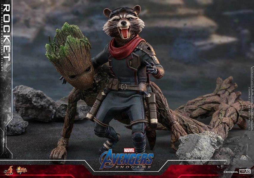 Avengers Endgame 1 6th Scale Rocket Figure From Hot Toys Hot Toys Avengers Marvel