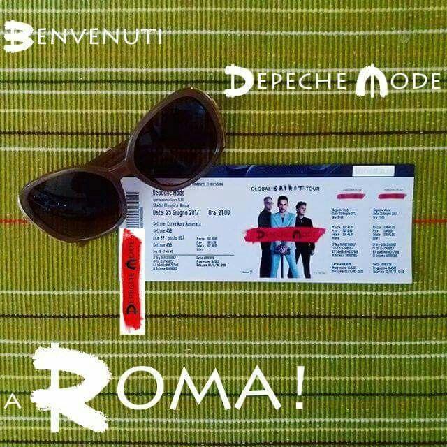 WOW FINALMENTE ROMA!!!!!!!!!!!! 25.06.2017 #DepecheMode #GlobalSpiritTour