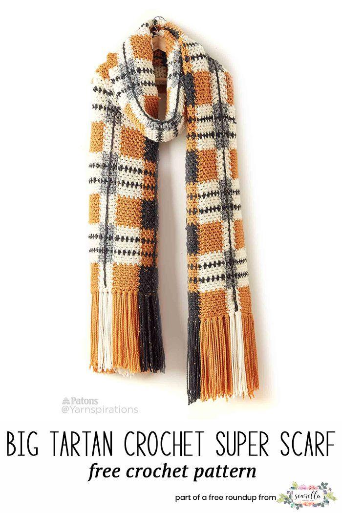 Crochet Scarf Patterns that Look Knit | Gorros, Magos y Tejido
