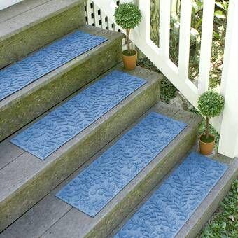 Best Beckley Medium Blue Stair Tread Stair Treads Outdoor 400 x 300