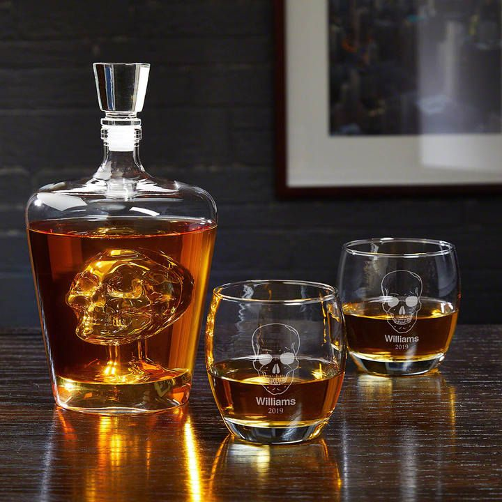 Phantom Skull Decanter And #Personalized Rocks Glasses Set. This Unique  Barware Collection Is Made