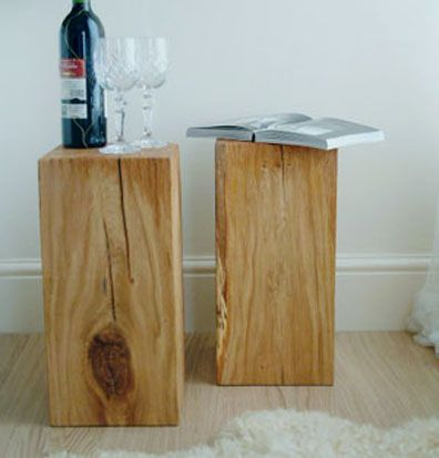 Do different sizes  for candles  wood block side tables   love the natural  look. Do different sizes  for candles  wood block side tables   love the