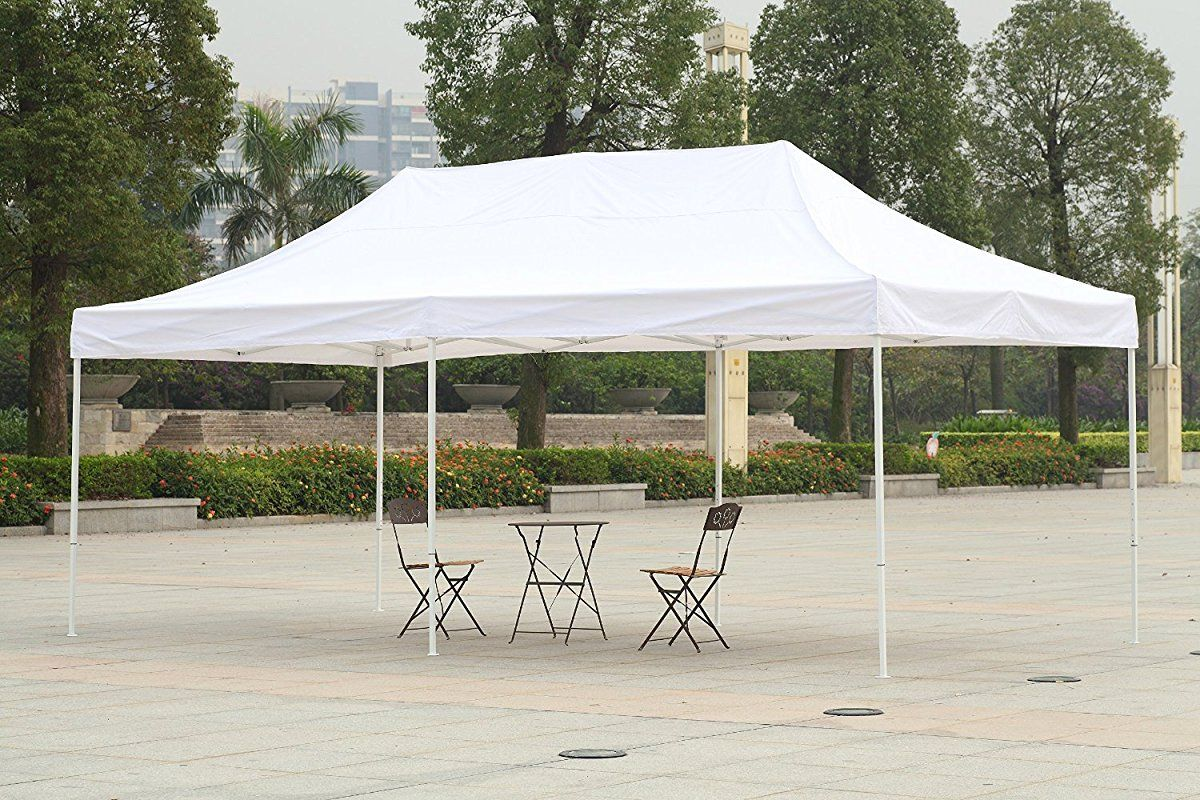 Patio Commercial Canopy White Steel Frame Heavy Duty Pop Up Party Festival Instant Shelter Canopy 10 X 20 Feet White Canopy Tent Commercial Canopy Patio