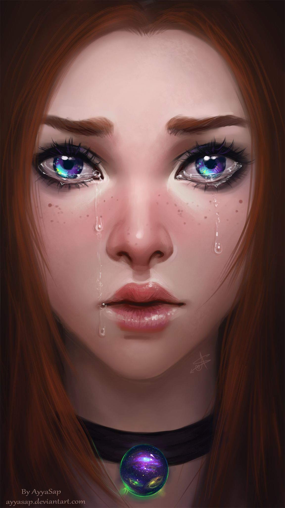 Weeping Eyes By Ayyasap On Deviantart Anime Art Girl Digital Art Girl Girly Art