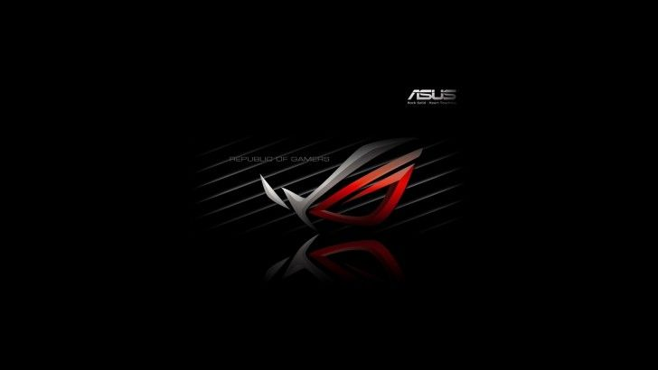 Download Republic Of Gamers Asus Logo Dark Background 1920x1080