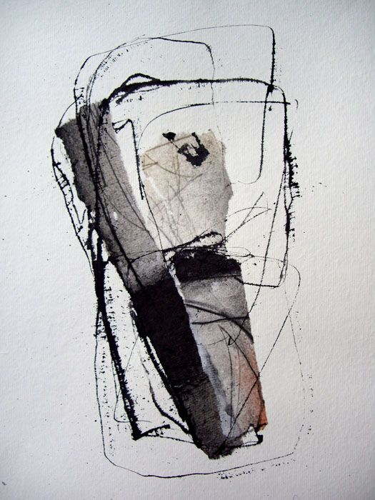 '120′  kitty sabatier : calligraphy  -Techniques mixtes  21 x 30 cm  2010