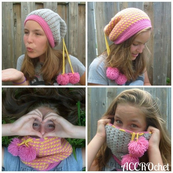 4-in-1 hat/cowl convertible #crochet pattern for sale from ACCROchet ...