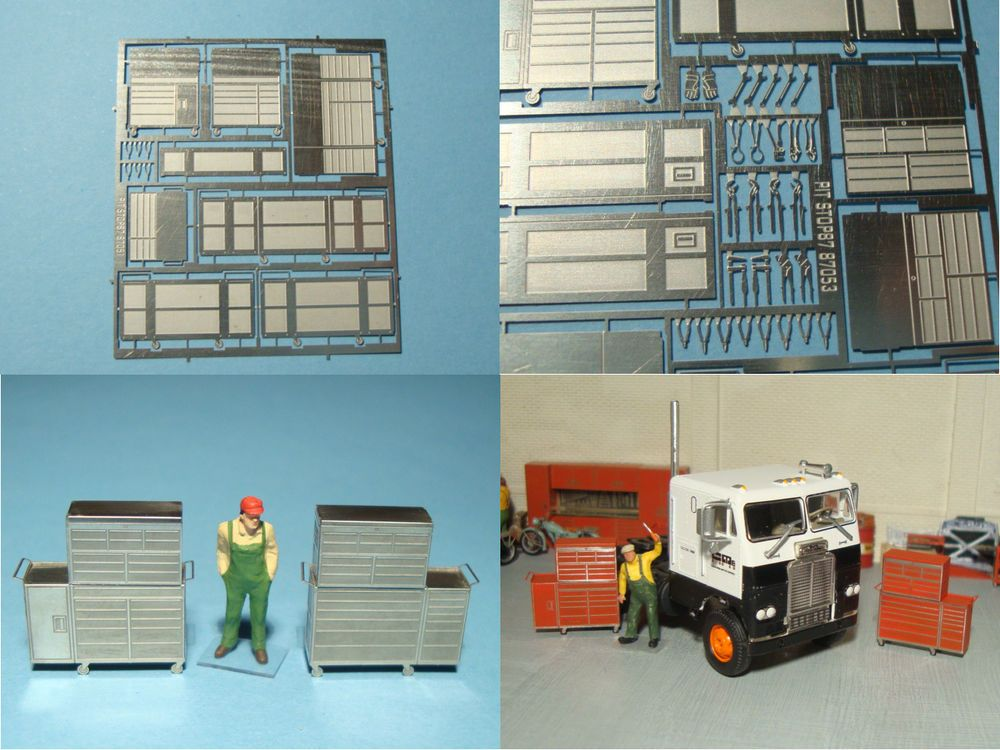 1/87 scale roll and hand tools for truck bus car