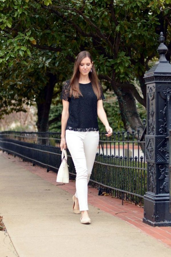 2e236d8053b6 45 Casual White Jeans Outfits for 2016 | Lifestyle | White jeans ...