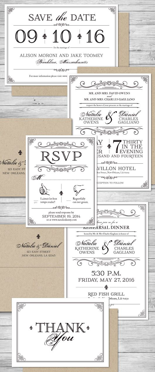 formal wedding invitation reply save the date rehearsal dinner