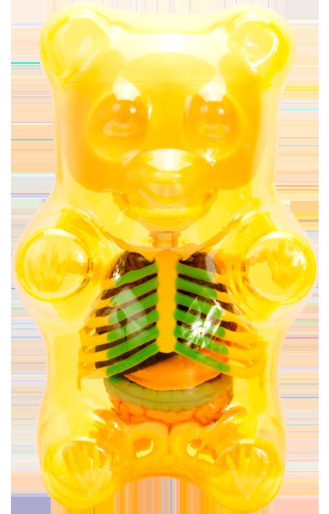 Mighty Jaxx Funny Anatomy Gummi Bear Clear Yellow Collectible Figure Gummy Bears Yellow Art Gummies