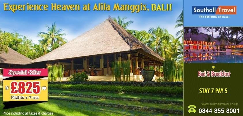 Indulge in a unique tryst with luxury in the laps of nature at a special price of £825 (7 Nights). Other offers also available. Call Now! http://www.southalltravel.co.uk/holidays/far-east/bali/alila-manggis.aspx