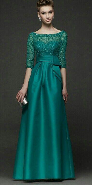 Imagenes de vestidos con manga para fiesta