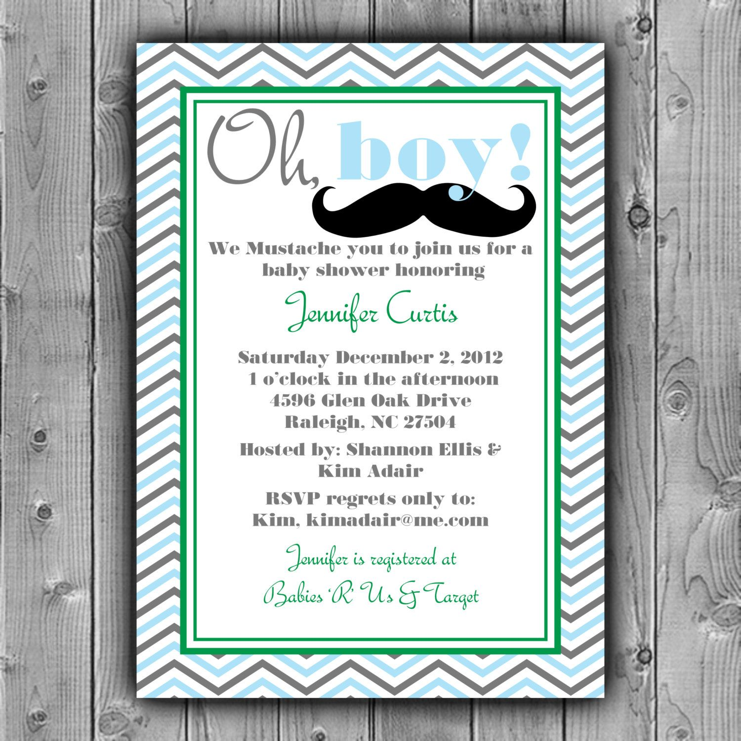 Little Man Baby Shower Invite, Mustache Baby Shower Invitation ...