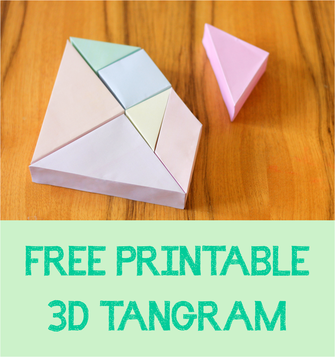Free Printable 3D Tangram. Great Activity For Kids