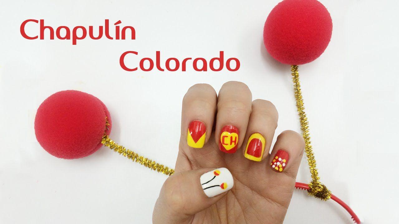Decoración en las Uñas El Chapulin Colorado ¡Comparte el video con ...
