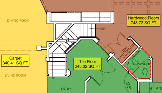 How To Measure A Room For Flooring How To Calculate Carpet Cost World Floor Covering Association Diy Bathroom Makeover Flooring Flooring Calculator