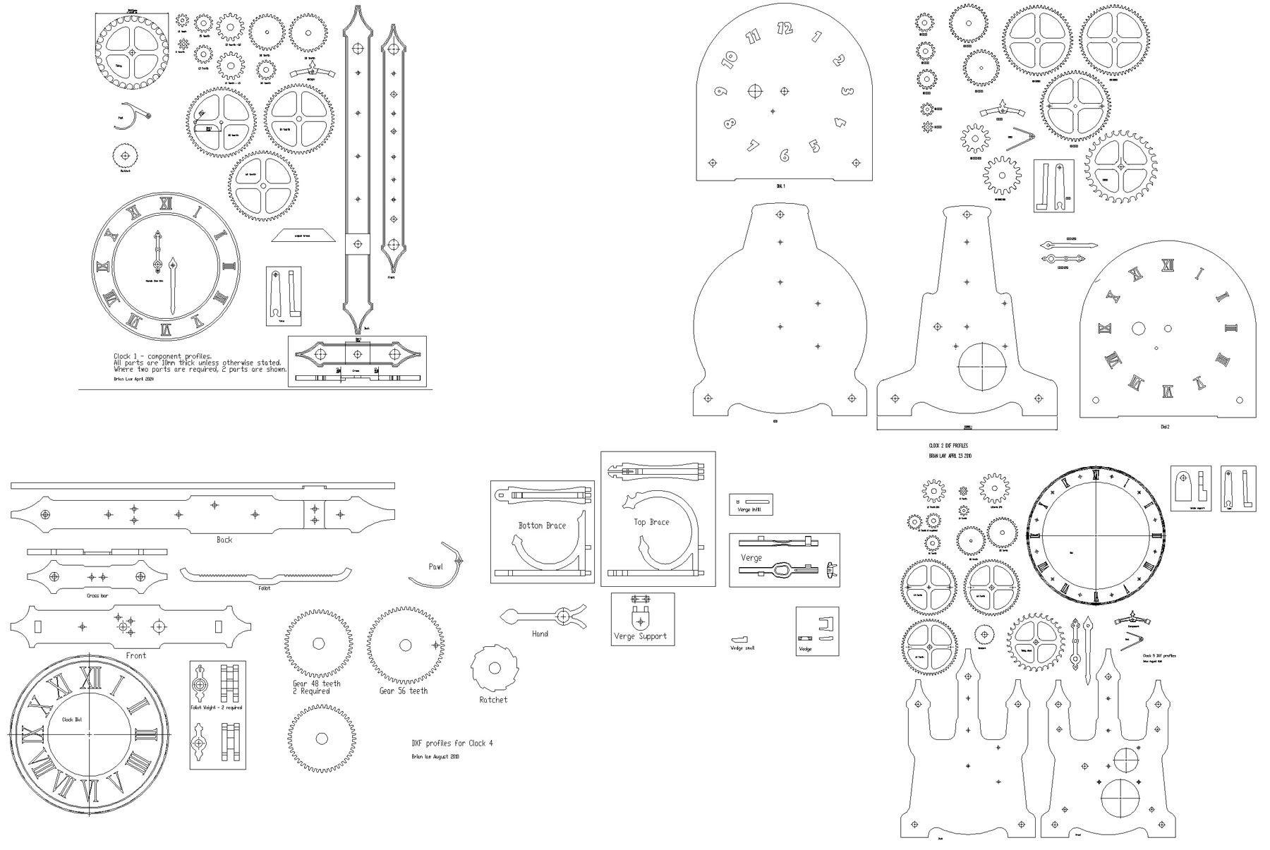 Clock 21 Profile Cuts  Router Cutter Version Layers Blue Green |  Oscarroyav | Pinterest | Wooden Clock, Clocks And Wooden Clock Plans