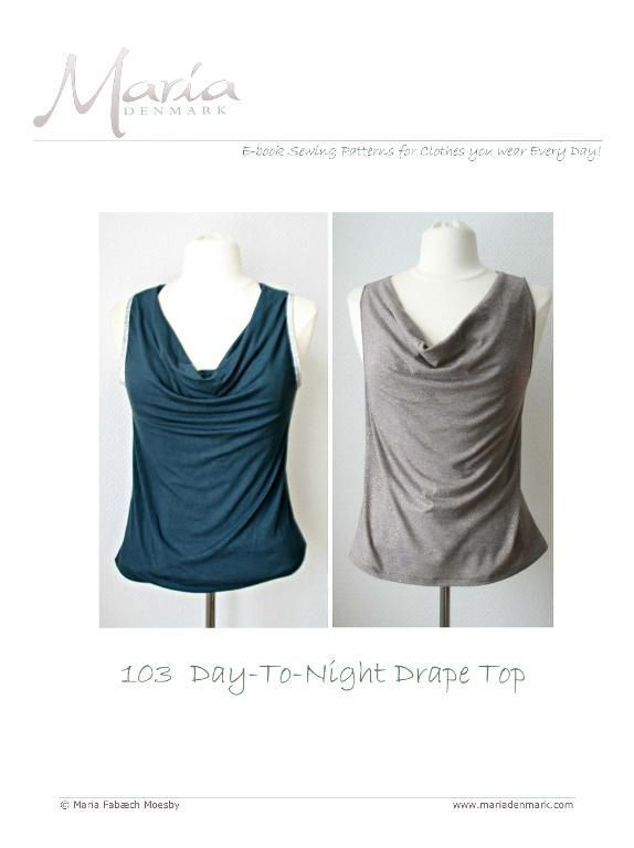 103 - Day-To-Night Drape Top | Costura, Textiles y Molde