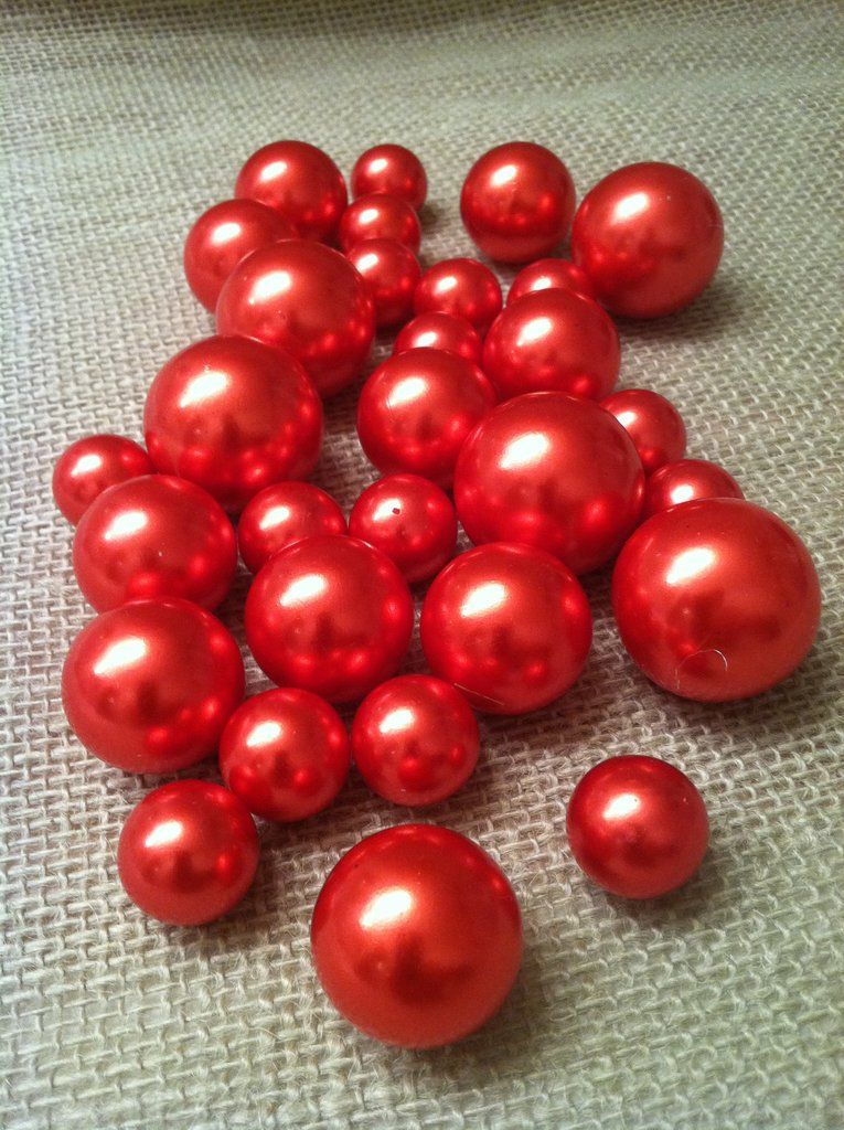 Red Pearls For Floating Pearl Centerpieces Jumbo Pearls Vase