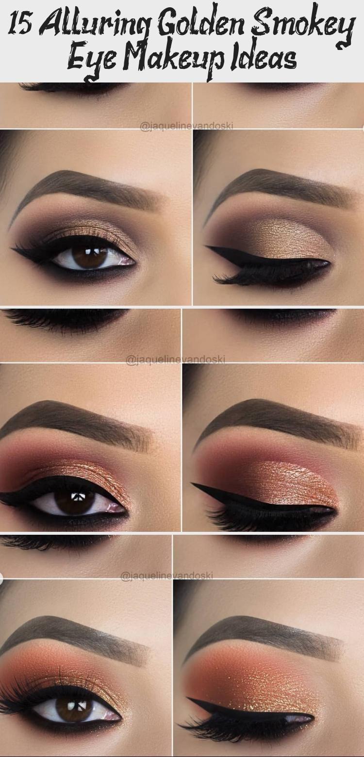 Photo of 15 Verführerische Make-up-Ideen für Golden Smokey Eye –  15 Verführerische Ma…