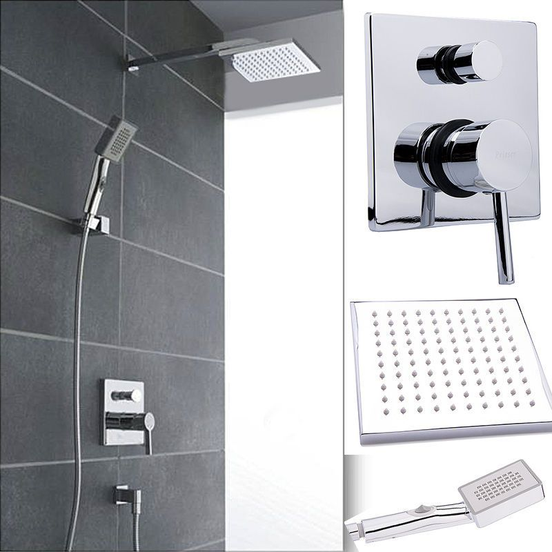 details zu regendusche kopfbrause unterputz armatur duschstange duschen dusch set bad home. Black Bedroom Furniture Sets. Home Design Ideas