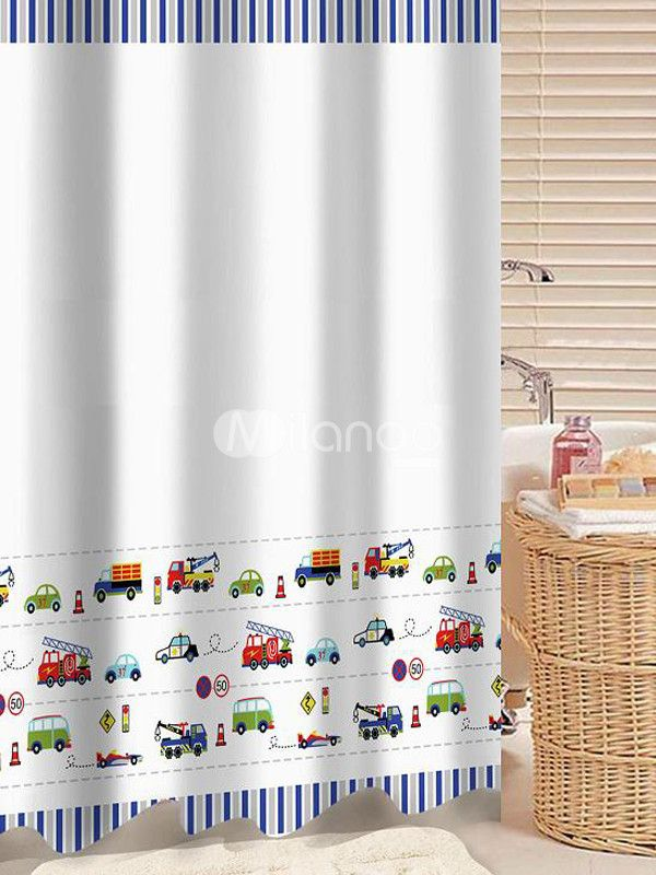 Boys Bathroom 9 Shower Curtain, Boy Bathroom Shower Curtains