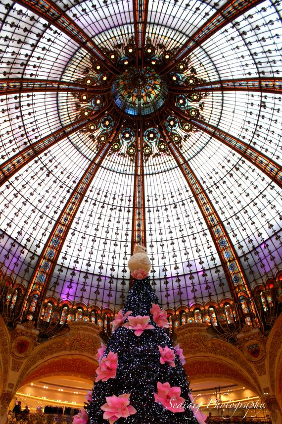 Paris Open On Christmas 2021 Christmas In Paris France Galeries Lafayette Photograph Etsy In 2021 Christmas In Paris Belle Epoque Paris Photography