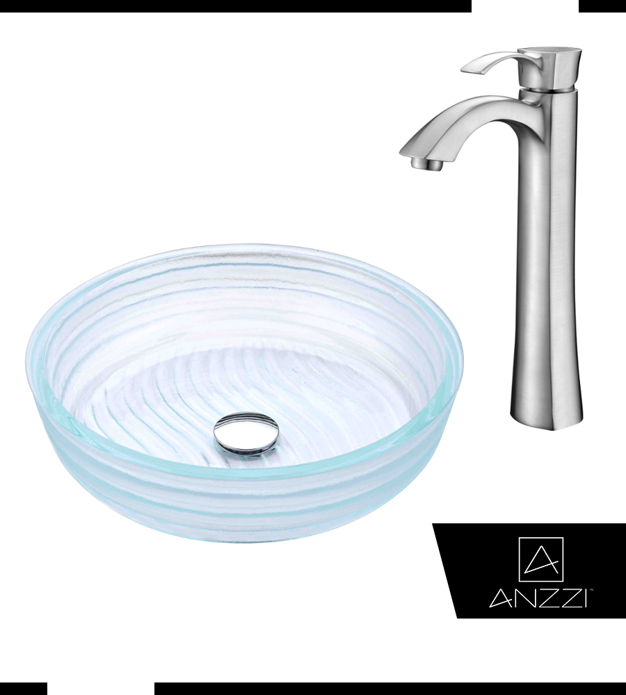 High Strength and Supreme Quality Vessel Sink Faucet Combo - ANZZI\'s ...