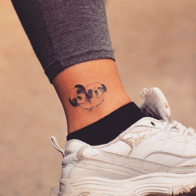 Shih Tzu Tattoo Google Search Tattoo Small Dog Tattoos