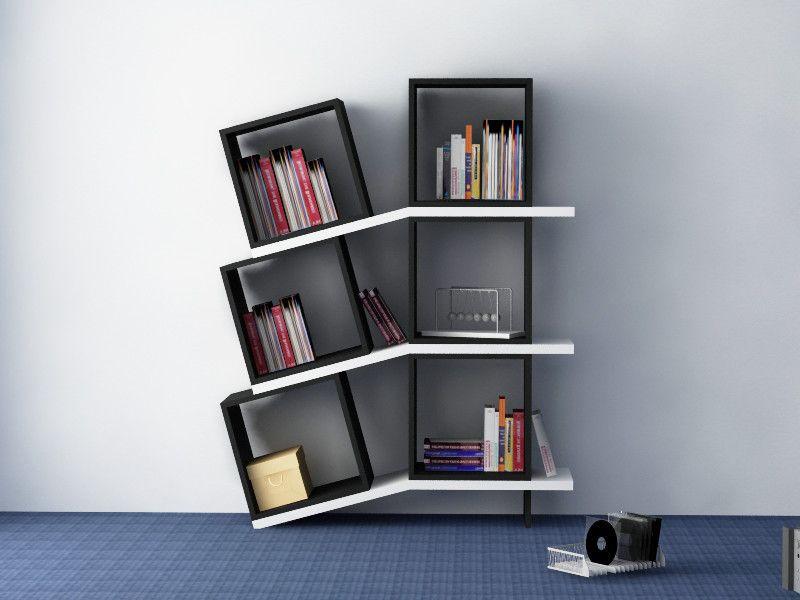 decortie balance modern luxury bookcase unique shelving