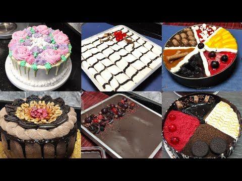 Cake Decoration تزيين الكيك والتورتة بطريقة بسيطة وسهلة جدا للمبتدئين Youtube Desserts Food