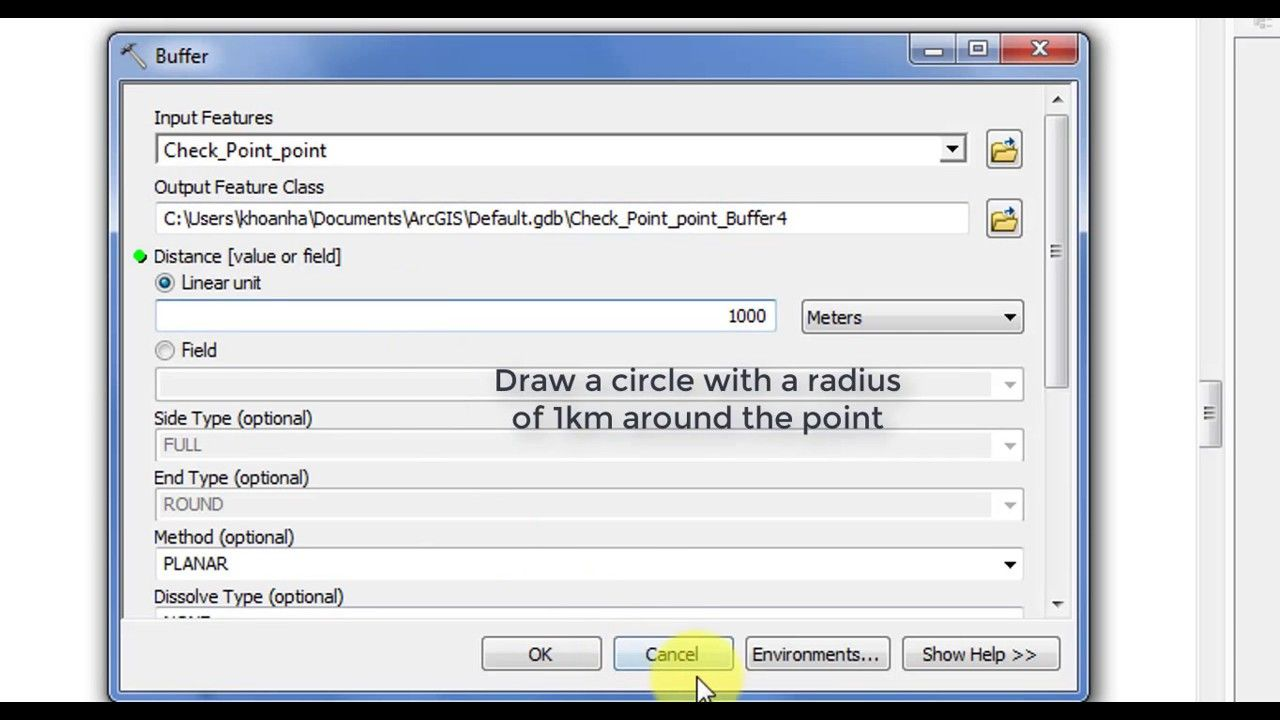ArcGIS tips : How to create square buffers around points