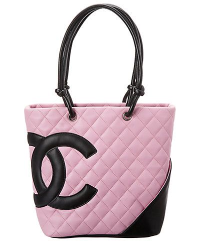 51a348035e60d6 Rue La La — Chanel Pink Quilted Calfskin Leather Medium Cambon Tote ...
