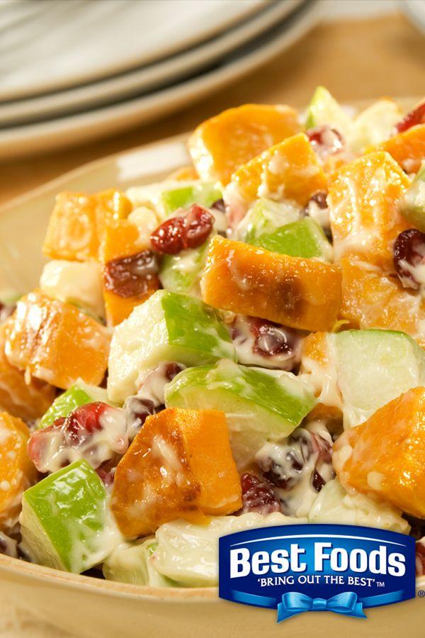 Roasted sweet potato salad recipe sweet potato salads potato recipes roasted sweet potato salad using best foods forumfinder Gallery