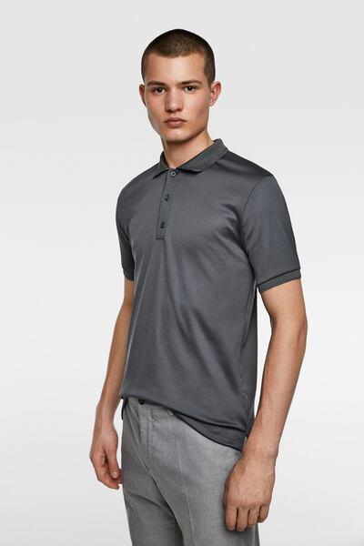 Blaser Polo Shirt Short Sleeve Anthracite