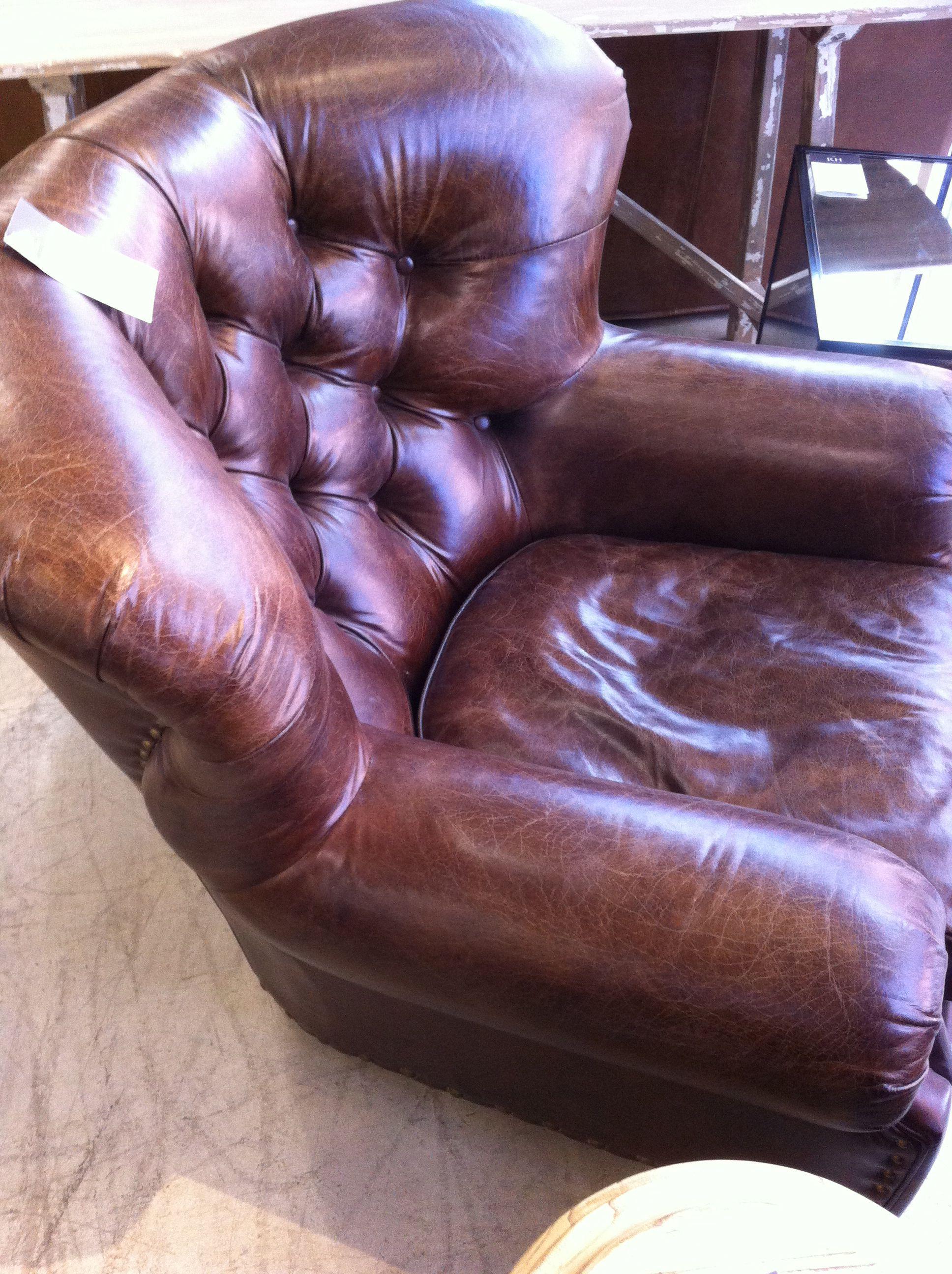 Restoration Hardware Churchill Leather Chair