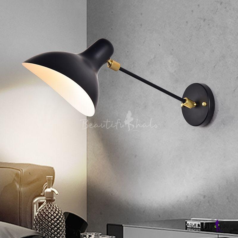 Modern Design Duckbill Wall Lamp Metal Single Bulb Wall Mount Light In Black For Study Room Wall Mounted Light Wall Mounted Lamps Adjustable Wall Lamp #wall #mounted #lighting #for #living #room