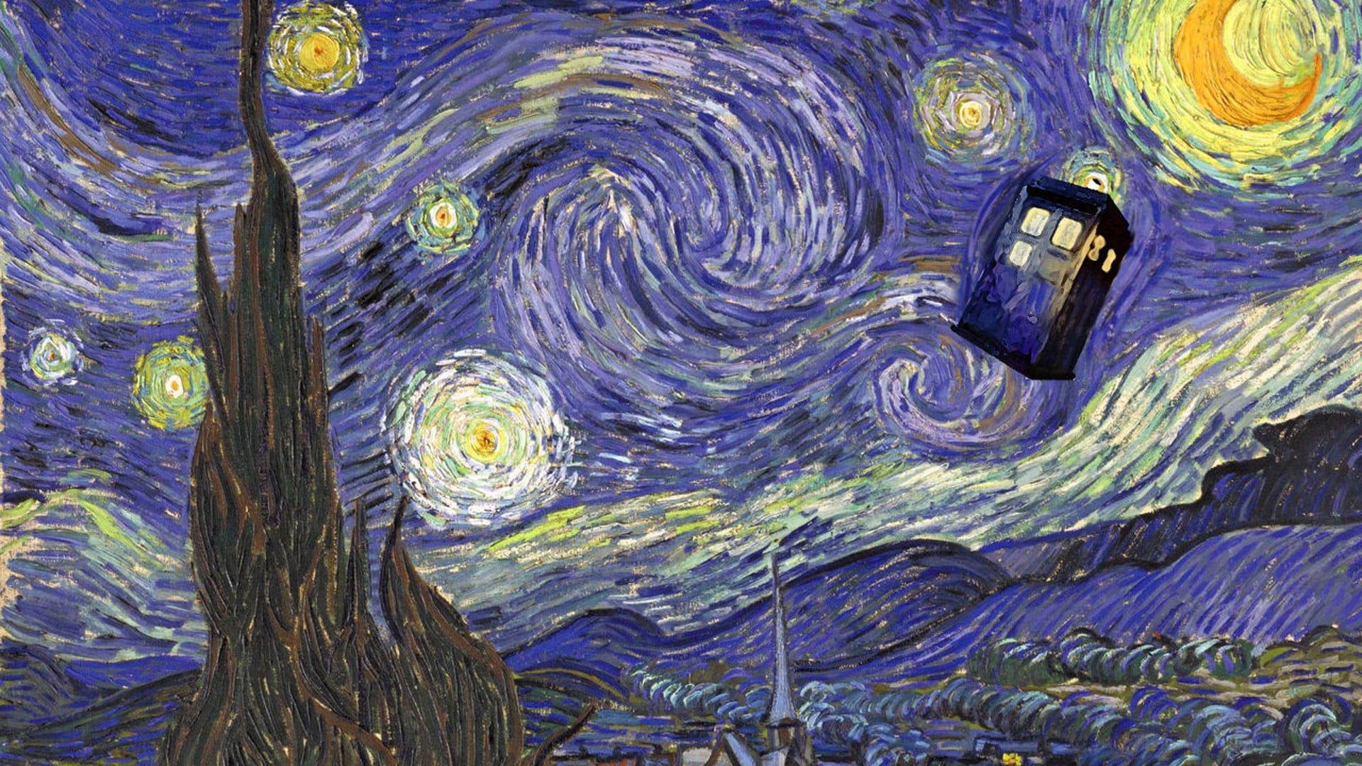 Starry Night By Vincent Van Gogh Doctor Who Tardis 1080p Wallpaper Hdwallpaper Desktop Van Gogh Vincent Van Gogh Tardis Van Gogh