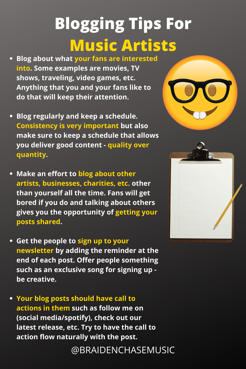 Blogging Tips For Music Artists Music Artists Recorder Music Music Business