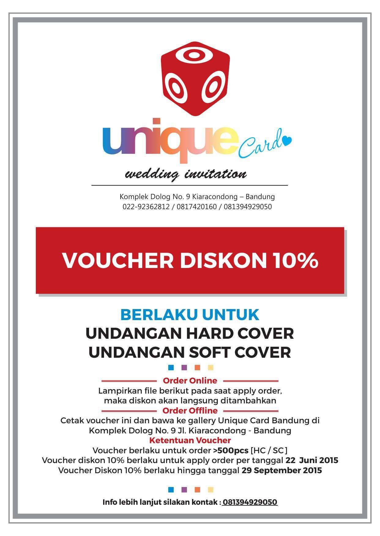 PROMO DISKON 10% UNIQUE CARD WEDDING INVITATION Diskon 10% untuk ...